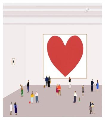 "<span class=""artist""><strong>Rose Blake</strong></span>, <span class=""title""><em>A Pink Heart</em>, 2015</span>"