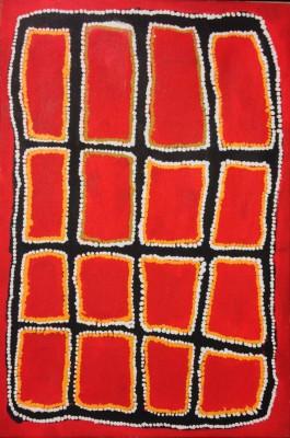 <span class=&#34;artist&#34;><strong>John Mosquito</strong></span>, <span class=&#34;title&#34;><em>Windika, in the Great Sandy Desert, W.A.</em>, 1996</span>