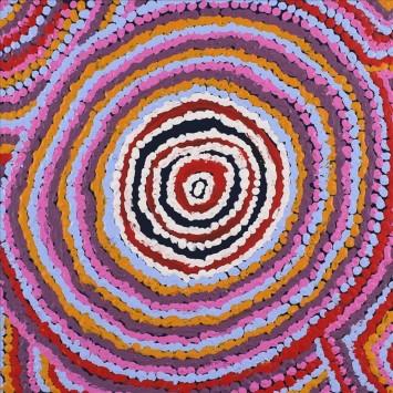 """<span class=""""artist""""><strong>Jeanie Napangardi Lewis</strong></span>, <span class=""""title""""><em>Mina Mina Jukurrpa (Mina Mina Dreaming) - Ngalyipi</em>, 2016</span>"""