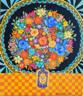 <span class=&#34;artist&#34;><strong>Hepzibah Swinford</strong></span>, <span class=&#34;title&#34;><em>Flowers in a jar</em>, 2016</span>