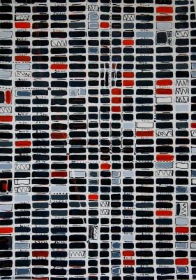 <span class=&#34;artist&#34;><strong>Barbara Macfarlane</strong></span>, <span class=&#34;title&#34;><em>Midtown Slate, Orange, Grey</em>, 2016</span>