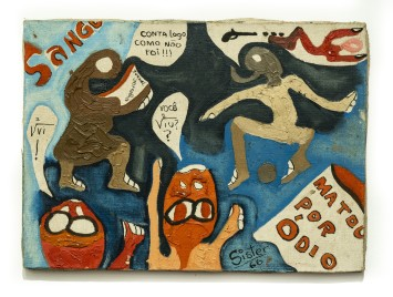 Sérgio Sister Sem título, 1967 [detalhe] tinta acrílica e spray de esmalte sobre tela 33 x 24 cm