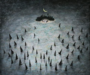 <span class=&#34;artist&#34;><strong>Rebecca Rebouché</strong></span>, <span class=&#34;title&#34;><em>Isle of Dreams</em>, 2014</span>