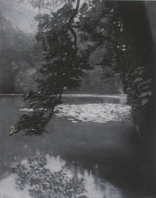 <span class=&#34;artist&#34;><strong>Sheila Clarkson</strong></span>, <span class=&#34;title&#34;><em>Reflections at Abbot Pool</em>, 2014</span>