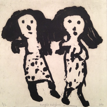 <span class=&#34;artist&#34;><strong>Trudy Inkamala</strong></span>, <span class=&#34;title&#34;><em>Kungka kutjarra</em>, 2016</span>