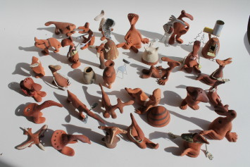 <span class=&#34;artist&#34;><strong>Lucy Casson</strong></span>, <span class=&#34;title&#34;><em>Clay Bodies Installation</em>, 2017</span>