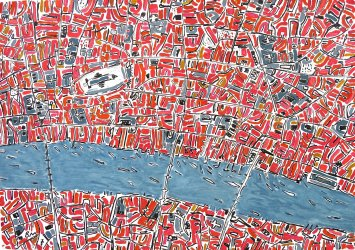 <span class=&#34;artist&#34;><strong>Barbara Macfarlane</strong></span>, <span class=&#34;title&#34;><em>Red and Pink London</em>, 2013</span>