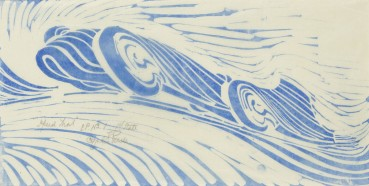 Cyril Edward Power  Speed Trial, 1932 (c.)  Linocut  20 x 38 cm  Signed, titled and inscribed 'EP No. 1 1st state'