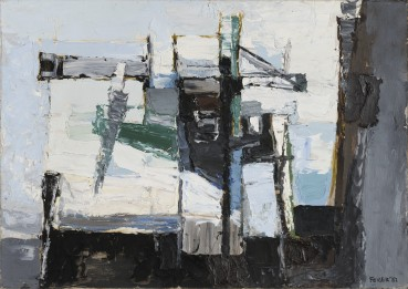 Paul Feiler  Atlantic Island, 1952  Oil on board  53 x 75 cm  Signed and dated lower right; titled verso