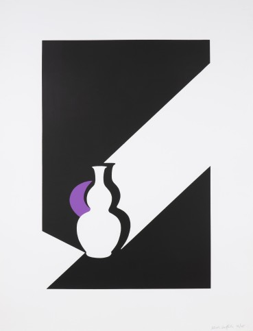 Patrick Caulfield CBE, RA  Arita Flask, Black, 1990  Screenprint  107 x 81 cm (sheet)  From the edition of 45 impressions  Signed and numbered lower right