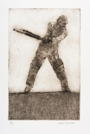 David Inshaw  Mark Batting, 2010  Etching on perspex  23 x 15 cm  AP  Signed