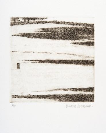 David Inshaw  Shadows, 2010  Etching on perspex  15 x 15 cm