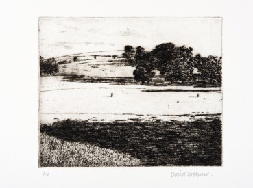 David Inshaw  Pitch, 2010  Etching on perspex  15 x 18.5 cm  AP  Signed