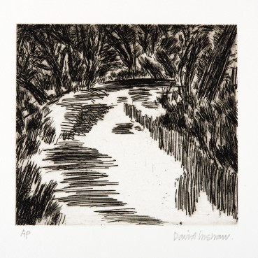 David Inshaw  River Bride, 2010  Copper plate etching  15 x 16 cm  AP  Signed