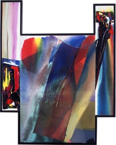 Paul Jenkins  Phenomena Stalk the Feldspar, 1977 - 1990  Acrylic on canvas with collage  246.4 × 195.6 cm