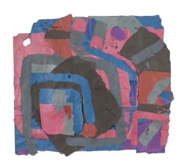 Francis Davison  G 612  Collage  85 x 95 cm