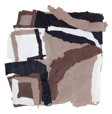 Francis Davison  F 37 (Three squares, brown arc), c.1976-78  Collage  63.5 × 62 cm
