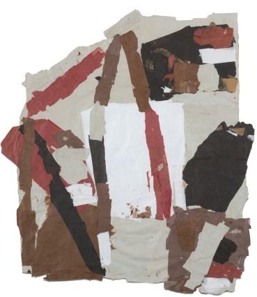Francis Davison  G 606 (White square centre)  Collage  65 x 57 cm