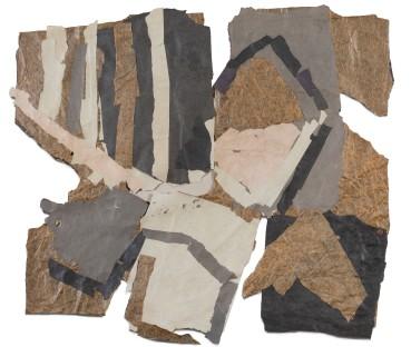 Francis Davison  E 309 (Stripes and squares), c.1975  Collage  61 x 70 cm