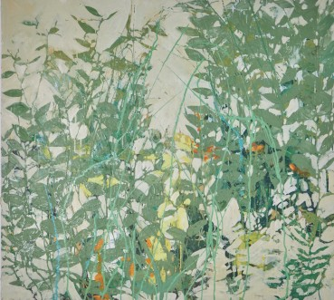 Ffiona Lewis  Razzle-dazzle , 2020  Oil on Board  92.5 x 102.5 cm