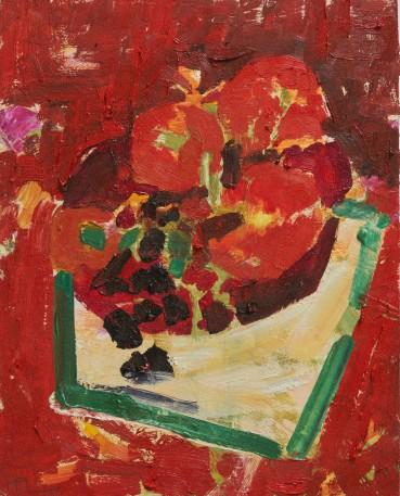 Ffiona Lewis  Glut, 2020  Oil on Gesso Board  30 x 24 cm