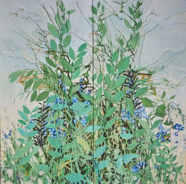 Ffiona Lewis  Planter's Punch, 2020  Oil on Canvas, Diptych  Oil on Canvas, Diptych