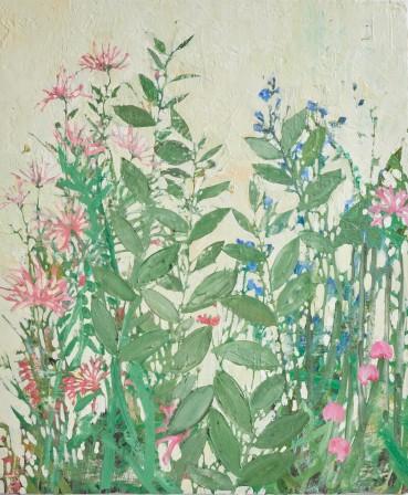 Ffiona Lewis  Spring Portrait, 2020  Oil on gesso board  60 x 50 cm