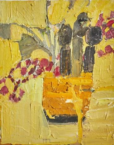 Ffiona Lewis  Jolly Gimcrack, 2021  Oil on Board  30 x 24 cm