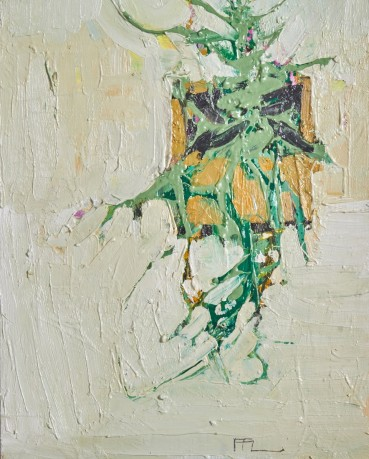 Ffiona Lewis  Pizzicato Pottings, 2021  Oil on Board  30 x 24 cm