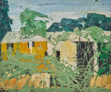 Ffiona Lewis  Briar Byre, 2021  Oil on Board  50 x 60 cm