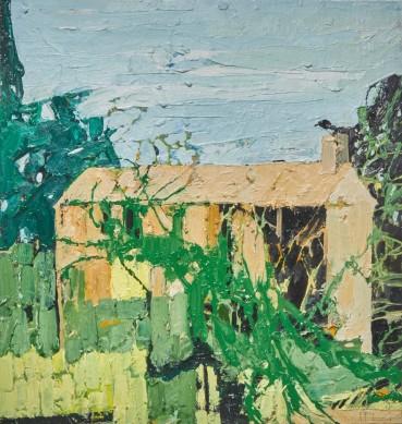 Ffiona Lewis  Bedrock Bakehouse, 2021  Oil on Board  50 x 48 cm
