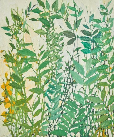 Ffiona Lewis  Garden - Cadmium Yellow, 2020  Oil on Gesso Board  50 x 60 cm