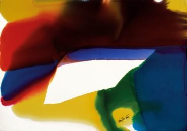 Paul Jenkins  Phenomena Prism Inscape, 1995  Watercolour on paper  78.7 × 109.9 cm