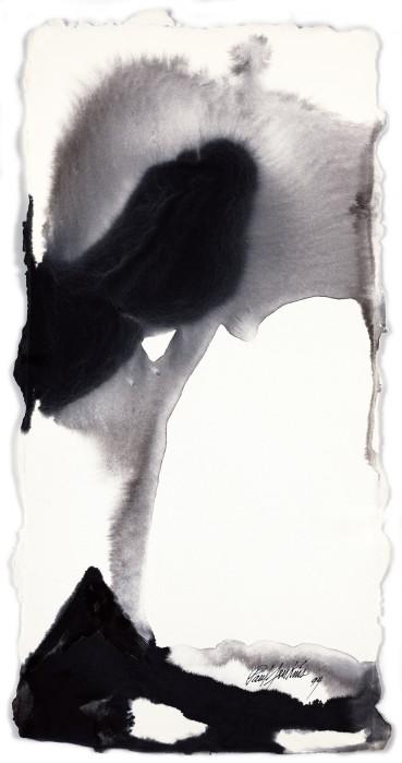 Paul Jenkins  Untitled , 1994  Ink on paper  58.7 × 29.2 cm