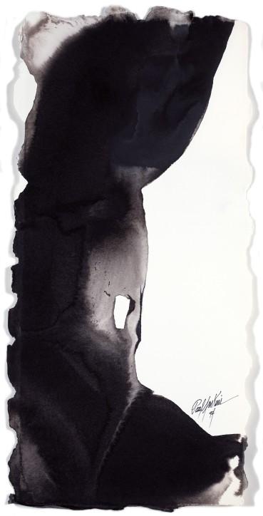 Paul Jenkins  Untitled, 1994  Ink on paper  58.1 × 27.6 cm
