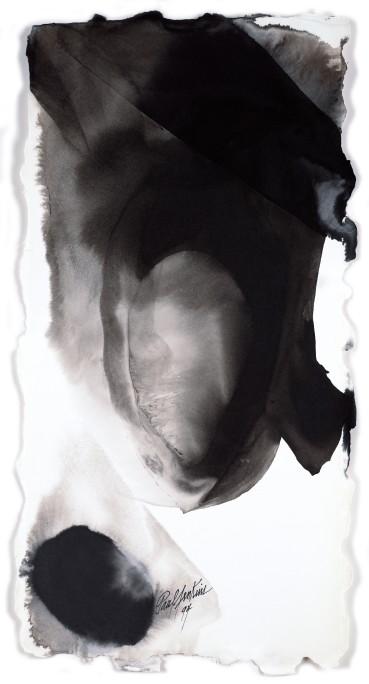 Paul Jenkins  Untitled, 1994  Ink on paper  58.4 × 29.8 cm