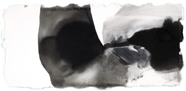 Paul Jenkins  Untitled, 1994  Ink on paper  28.3 × 59.1 cm