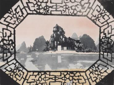 Patrick Procktor  Da Miou Mountains, Kweilin, 1980  Aquatint  45.5 x 60.2cm  Edition of 75  Signed