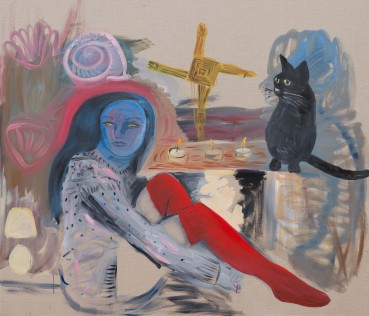 Lucy Stein  The Hearth Remembers , 2021  Acrylic and oil on Linen  120 x 140 cm
