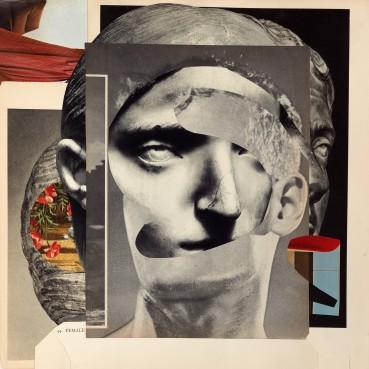 Linder  The Sphinx , 2021  Photomontage  35.5 x 34.5 cm
