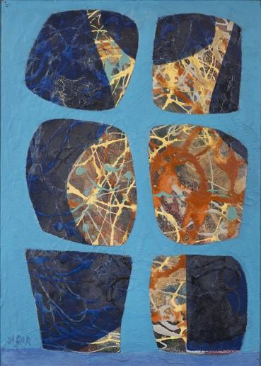 Eileen Agar  Two Figures, 1966  Acrylic on card laid on board  53.3 x 38.1 cm