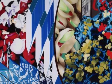 Brendan Neiland  Diaspora, 2019  Acrylic on canvas  91 x 122cm