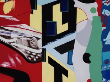 Brendan Neiland  Helter Skelter, 2018  Acrylic on canvas  45 x 61cm