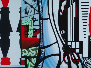 Brendan Neiland  Silhouette, 2018  Acrylic on canvas  45 x 61cm