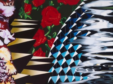 Brendan Neiland  Singa Rose, 2019  Acrylic on canvas  91 x 122cm