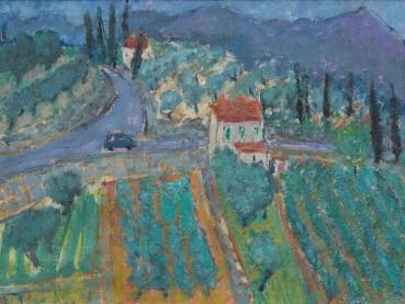Adrian Ryan  Olive Grove, Montauroux, 1972  Oil on canvas  30 x 38cm