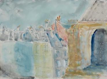 Adrian Ryan  Paris, nr Delacroix's Studio, 1950  Watercolour over pencil on paper  20 x 27cm