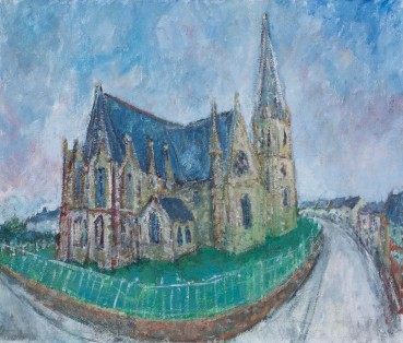 Adrian Ryan  Brittany Church, c.1985  Oil on canvas  49 x 59cm