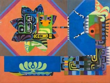 Eileen Agar  Signalled from Afar, 1980  Acrylic on canvas  76.2 x 101.6cm