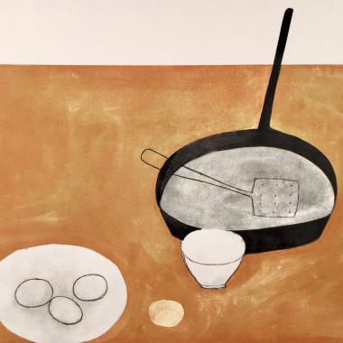 William Scott - Still life (with Frying Pan), 1973